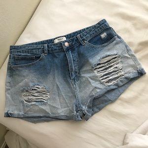 cute faded denim shorts